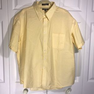 Croft & Barrow Yellow Short Sleeve Oxford Sz 18.5